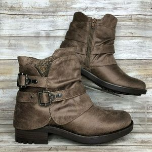 NEW Carlos Santana 7M Shaw Brown Ankle Boots